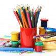 Color paints and pencils — Stock Photo #18959973