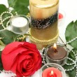Royalty-Free Stock Photo: Candles and a rose