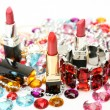 Decorative cosmetics and ornaments — Stock Photo