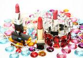 Decorative cosmetics and ornaments — Stock Photo