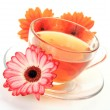 Tea and flowers - Stock Photo