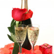 Champagne and rose — Stock Photo #23123248