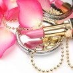 Decorative cosmetics and petals of roses — Stock Photo #24236701