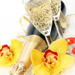Champagne and flowers — Stock Photo #24238235