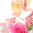 Champagne and rose — Stock Photo #24238377