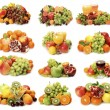 Collage from ripe fruit — Stock Photo