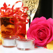 Wine and rose — Stock Photo #26882215