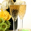 Champagne and flowers — Stock Photo #29271015