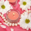 Foto de Stock  : Flowers and candles
