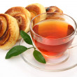 Tea and rolls — Stock Photo