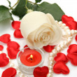 Rose and candles — Stock Photo #29272623