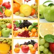 Collage from ripe fruits — Stock Photo