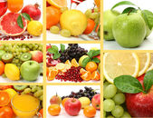 Collage de frutas maduras — Foto de Stock
