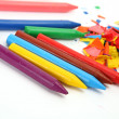 Stock Photo: Color wax pencils