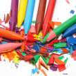 Color wax pencils — Stock Photo