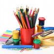 Paints for drawing and color pencils — Stock Photo #29738267