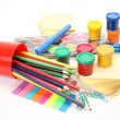 Paints for drawing and color pencils — Stock Photo #29738275