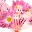 Pink flowers and streamer — Stock Photo #29738547