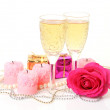 Champagne and rose — Stock Photo #29739045