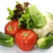Fresh vegetables for a dietary feed — Stock Photo