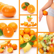 Collage from ripe oranges — Stock Photo #29976549