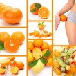Collage from ripe oranges — Stock Photo