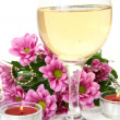 Champagne and flowers — Stock Photo #29976691
