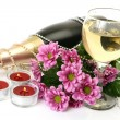 Champagne and flowers — Stock Photo #29976695