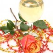 Champagne and flowers — Stock Photo #29976705