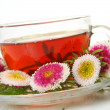Tea and flowers — Stock Photo #32394607