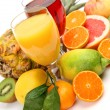 Fresh fruit and juice — Stock Photo #34682579
