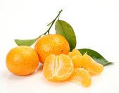Mandarin on white background — Stock Photo