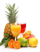 Fresh fruit and juice — Stockfoto