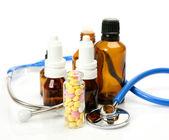 Comprimidos para o tratamento da doença — Foto Stock