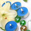 Fine lilies and candles — Stock Photo #35546263