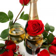 Champagne and roses — Stock Photo #35579201