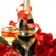 Champagne and roses — Stock Photo #35579211