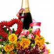 Champagne and roses — Stock Photo #35579323