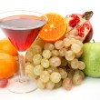 Stock Photo: Ripe fruit and juice