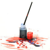 Brushes and a paint — Stock Photo