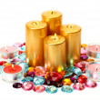 Gold candles — Stock Photo