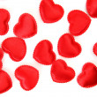 Scarlet hearts — Stock Photo