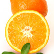 Ripe tangerines and oranges — Stock Photo