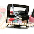 Decorative cosmetics and candles — Stockfoto