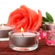 Fine rose and candles — Stock Photo #36086727