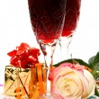 Wine and rose — Stock Photo #36089441