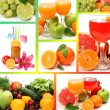 Stock Photo: Collage from ripe fruits