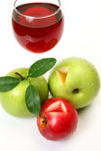 Ripe fruit and juice for a dietary feed — Stock Photo