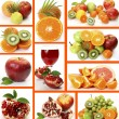 Collage from ripe fruits — Foto de Stock