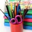 Paints and color pencils — Stockfoto #36090801